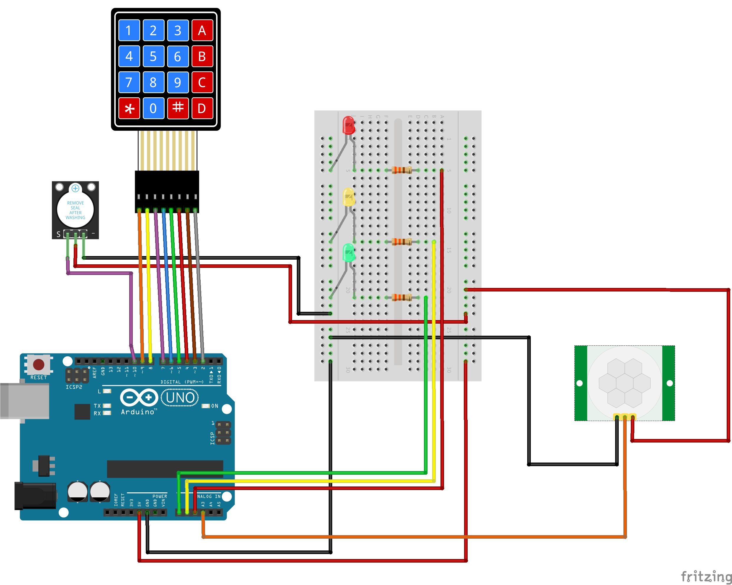 Motion Sensing Alarm With Keypad Password Schematic Diagram Keyboard And Bb Ujnzytiwzd