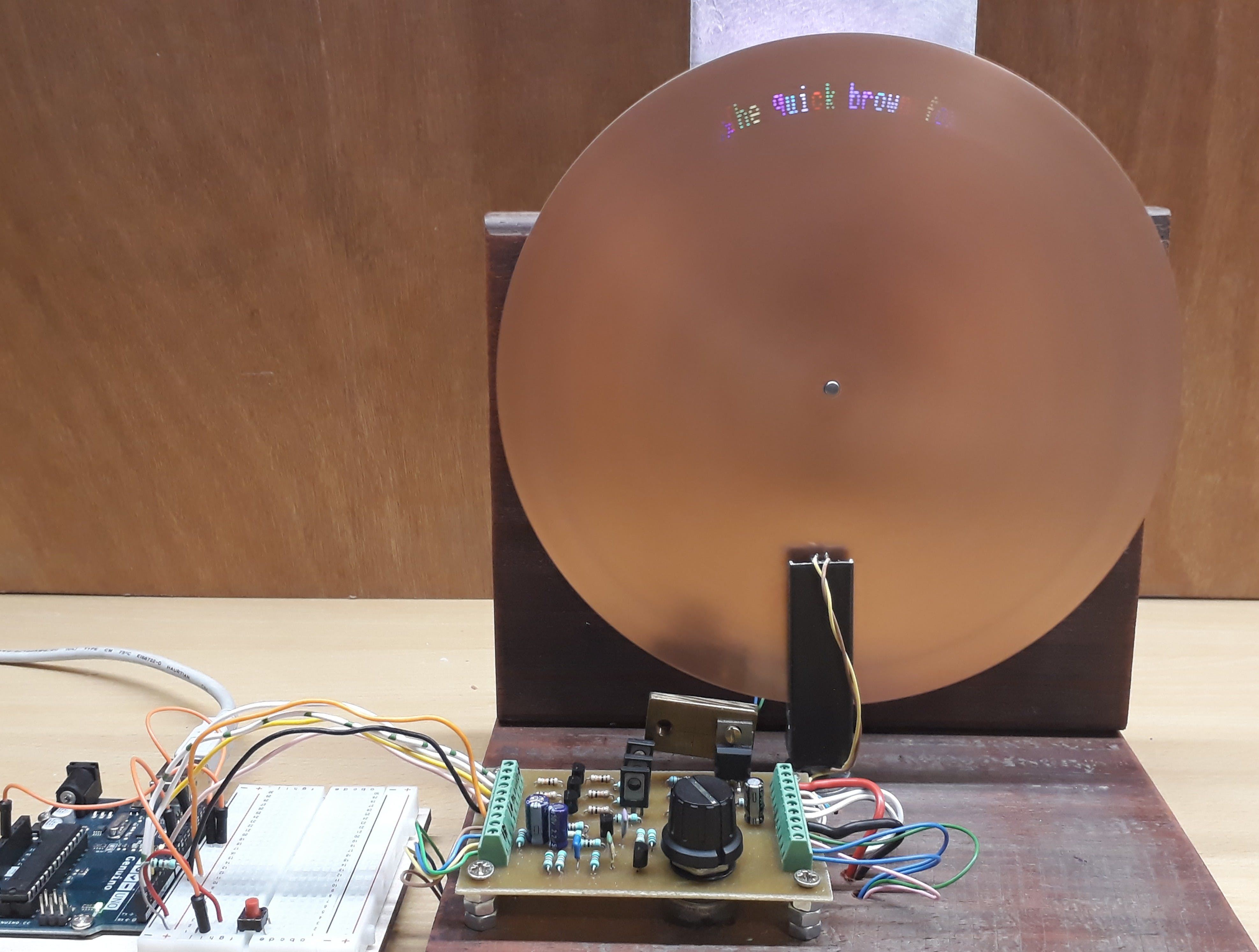 Nipkow Disk Based Digital Display Device