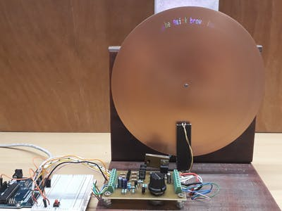 Nipkow Disk Based Digital Display Device