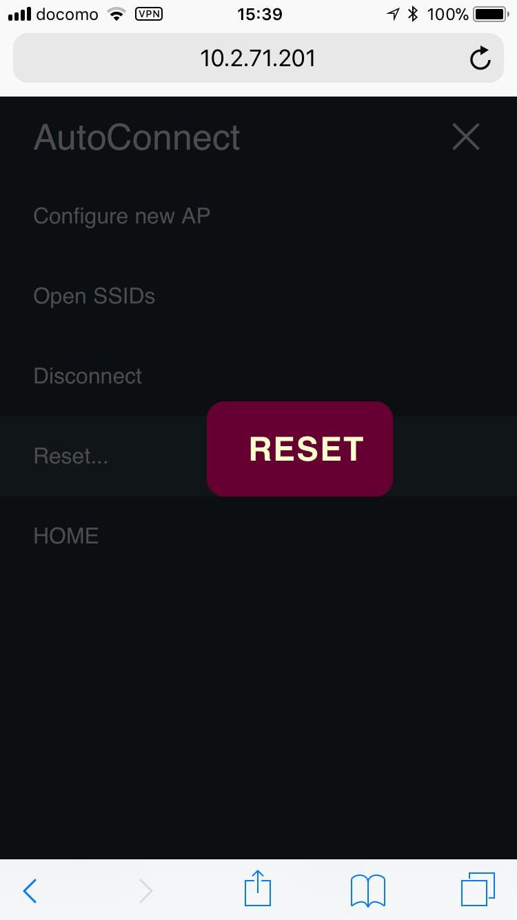 Reset the ESP8266