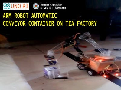 Arm Robot Automatic Conveyor Container On Tea Factory