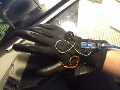 Hand Glove Light Theremin