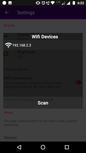 Wifi Scan Alert Box