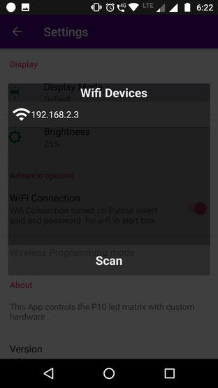 Wifi Scan Alert Box