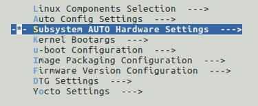 AUTO Hardware Settings