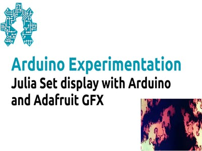 Julia Set display with Arduino