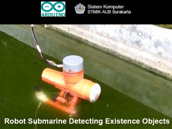 Robot Submarine Detecting Existence Objects