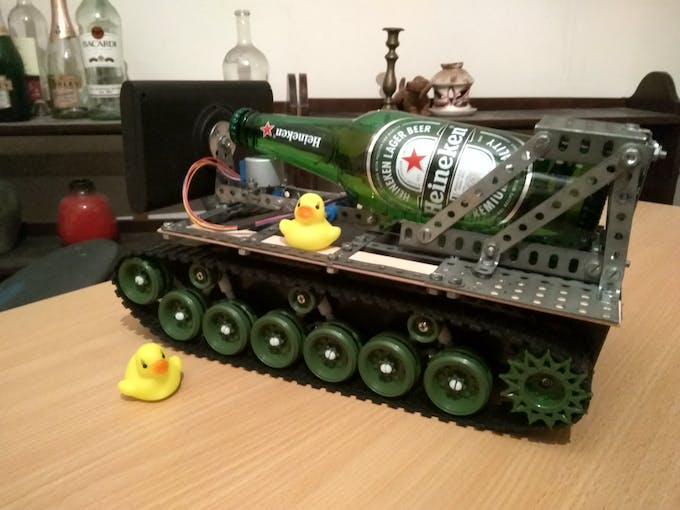 Oh No! Ducks captured both the beer and the tank! We're doomed!