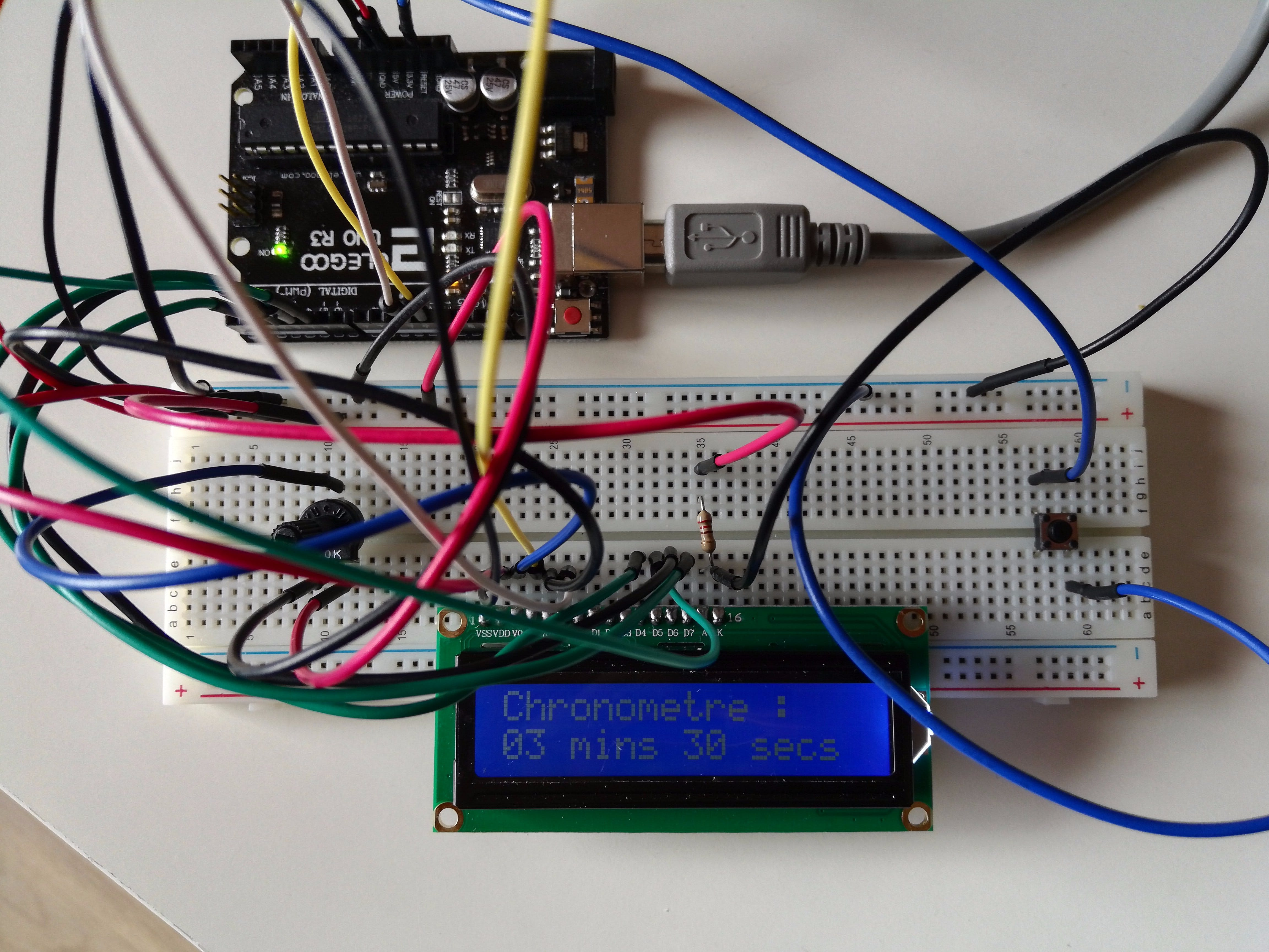 Simple LCD Timer With Arduino UNO