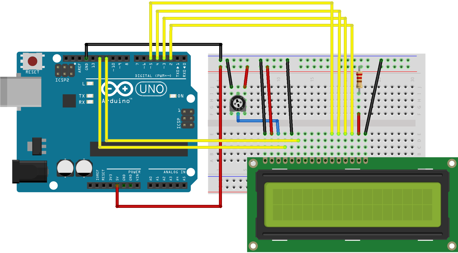 Simple LCD Timer With Arduino UNO - Hackster io