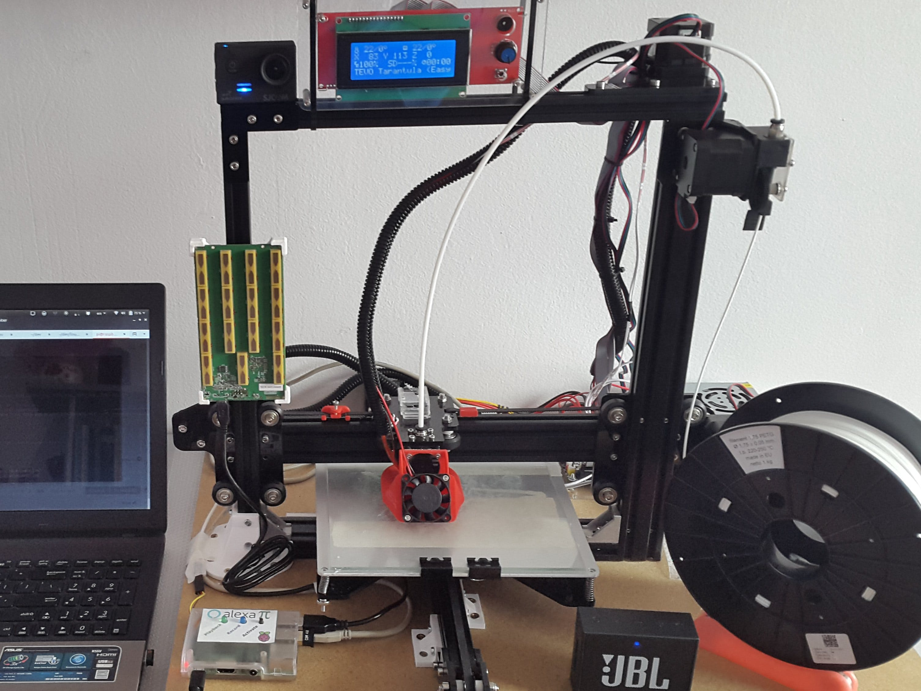 Alexa / Walabot Controlled Smart 3D Printer