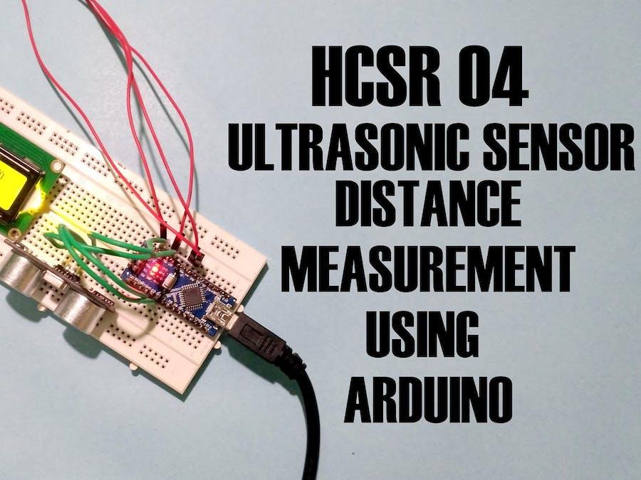 Distance Measurement Using Arduino Ultrasonic Sensor Arduino Project Hub