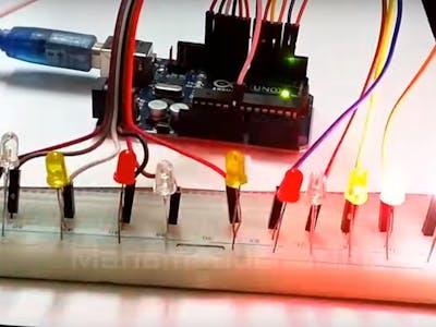 LED Sequential Control Arduino Tutorial