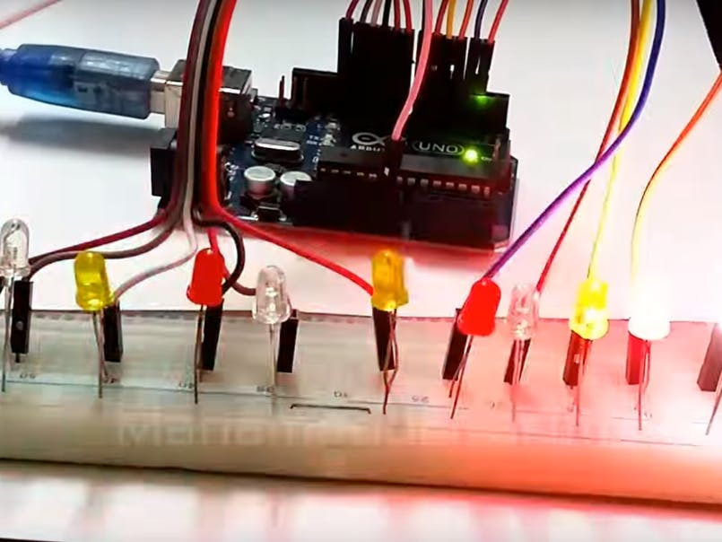 LED Sequential Control Arduino Tutorial - Arduino Project Hub
