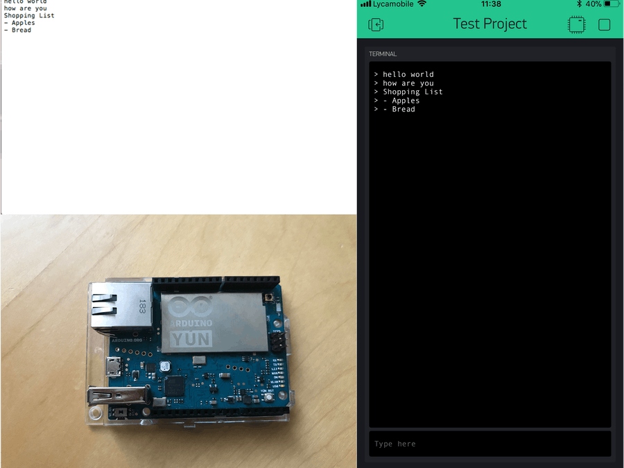 Blynk Terminal to SD Card
