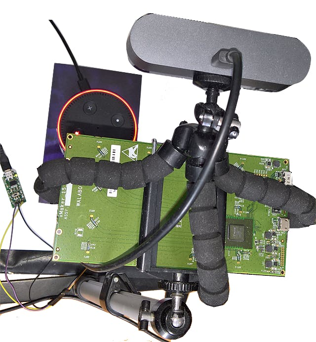 Walabot mounted on a USB