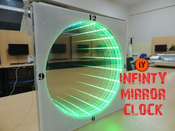 Infinity mirror clock arduino project hub