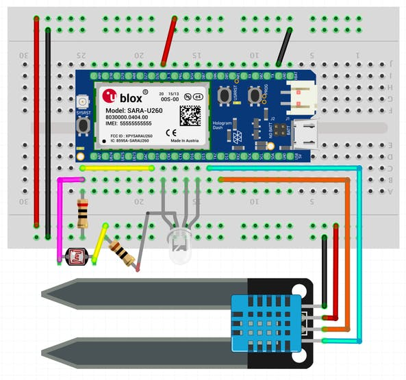 Fritzing Breadboard Diagram