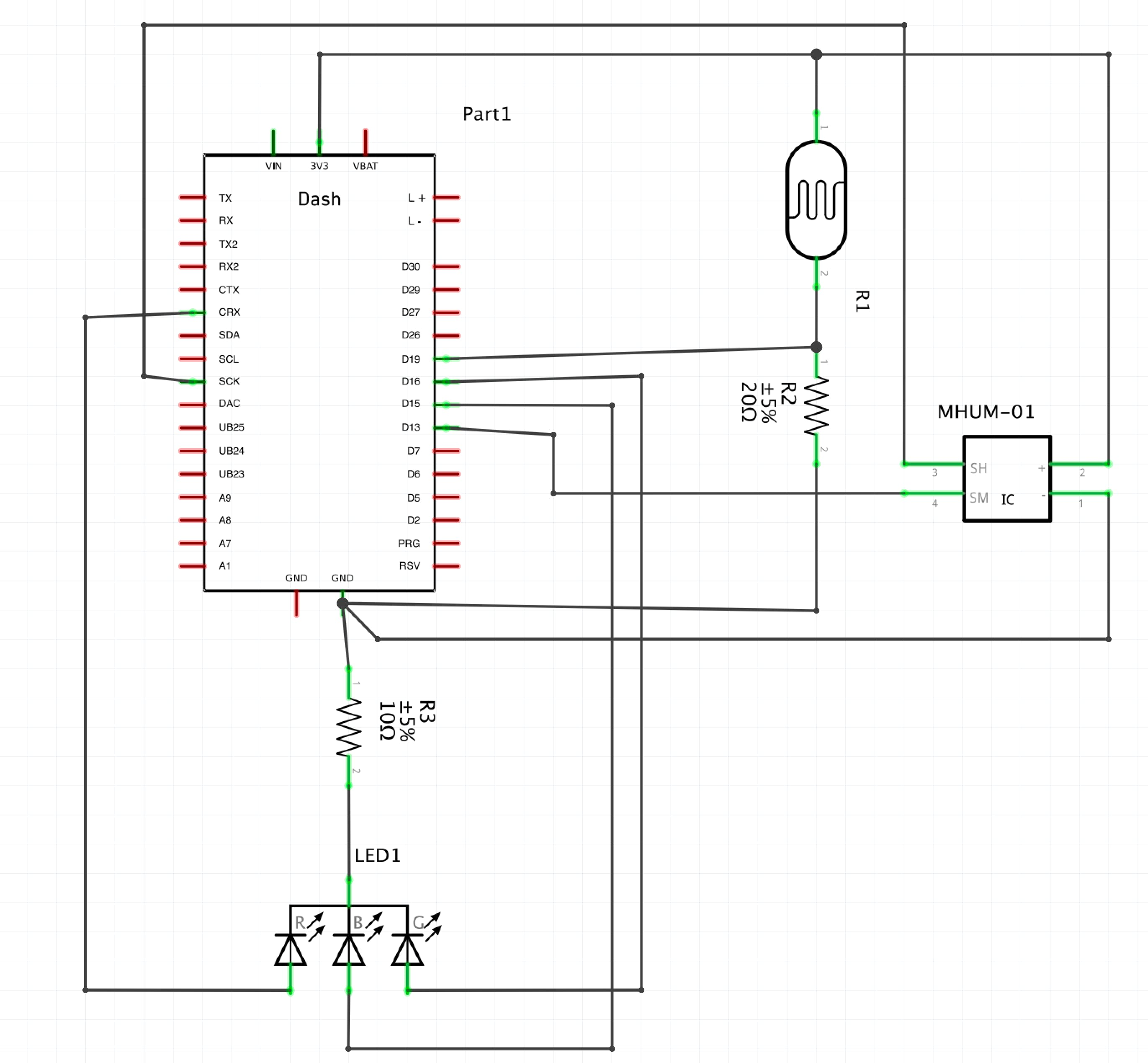 Schematic for our circuit