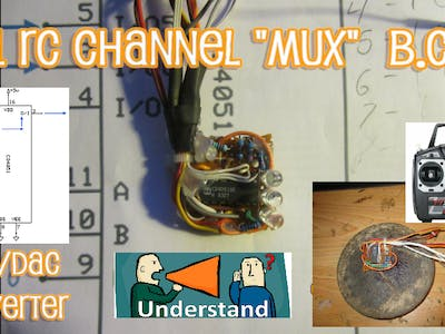 "8-to-1 RC Receiver ""MUX"" or MultiPlex of Interrupt Pins 2, 3"
