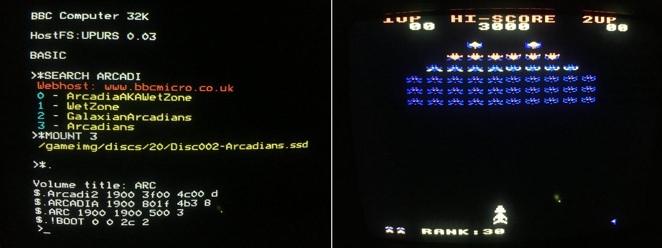 Searching for and loading games on the BBC Micro
