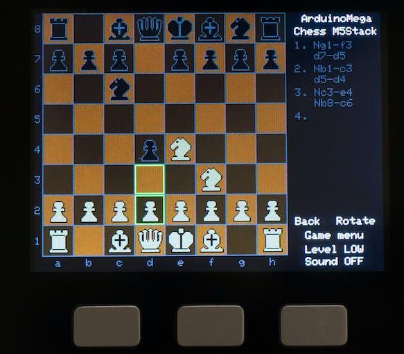 Arduino Mega Chess on M5Stack