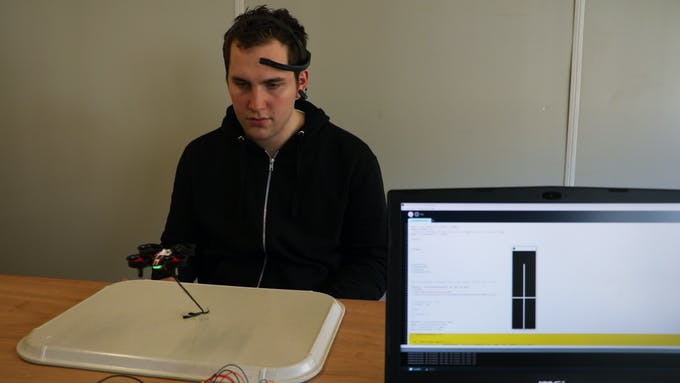Controlling the drone with the mindwave sensor