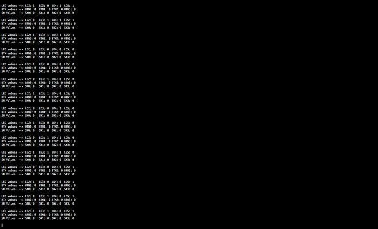 Console Output from the Python TCP server
