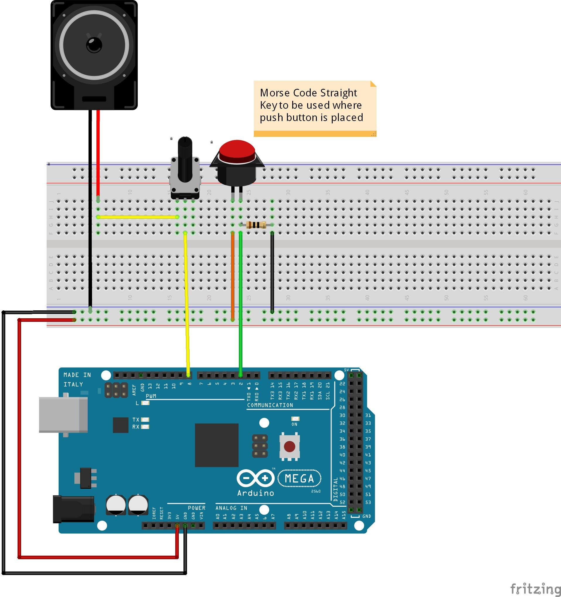 Straight Key Morse Code Oscillator