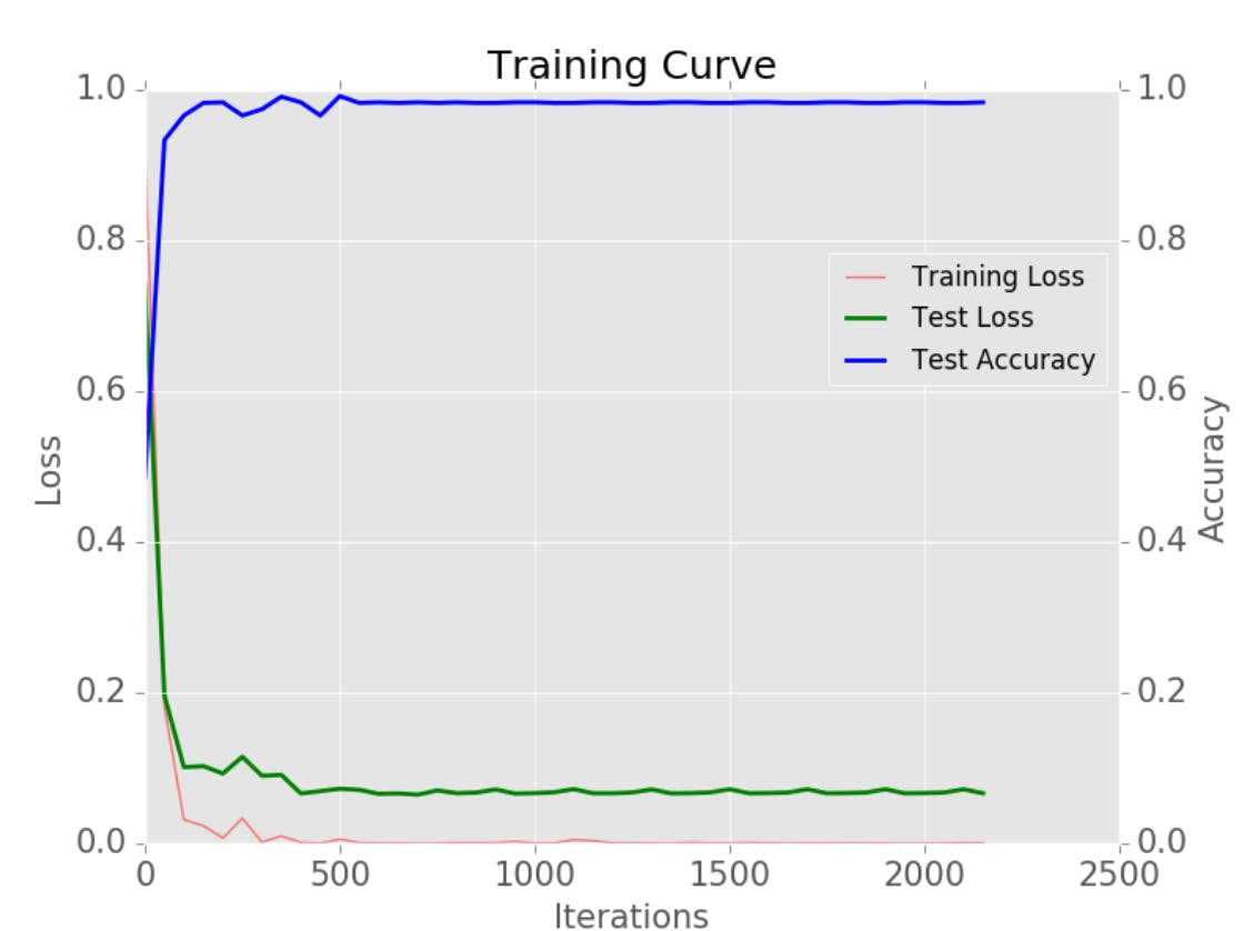 Training Curve For Facial