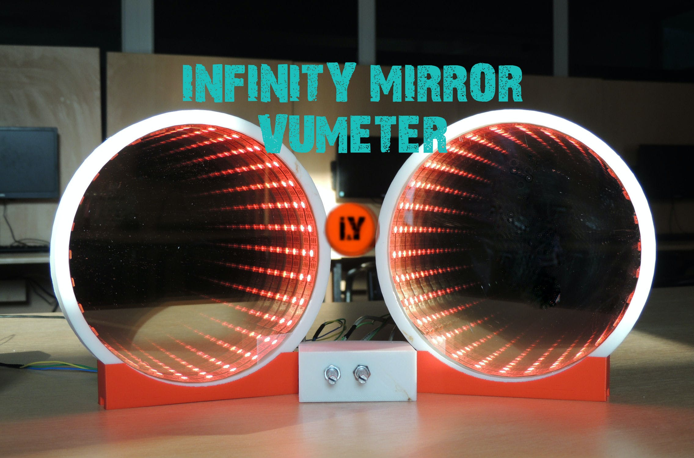 Infinity Mirror VU Meter Music Equalizer
