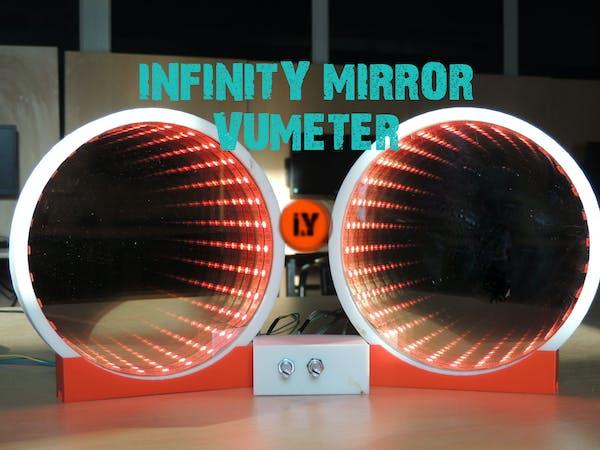 Infinity mirror vu meter music equalizer arduino project hub