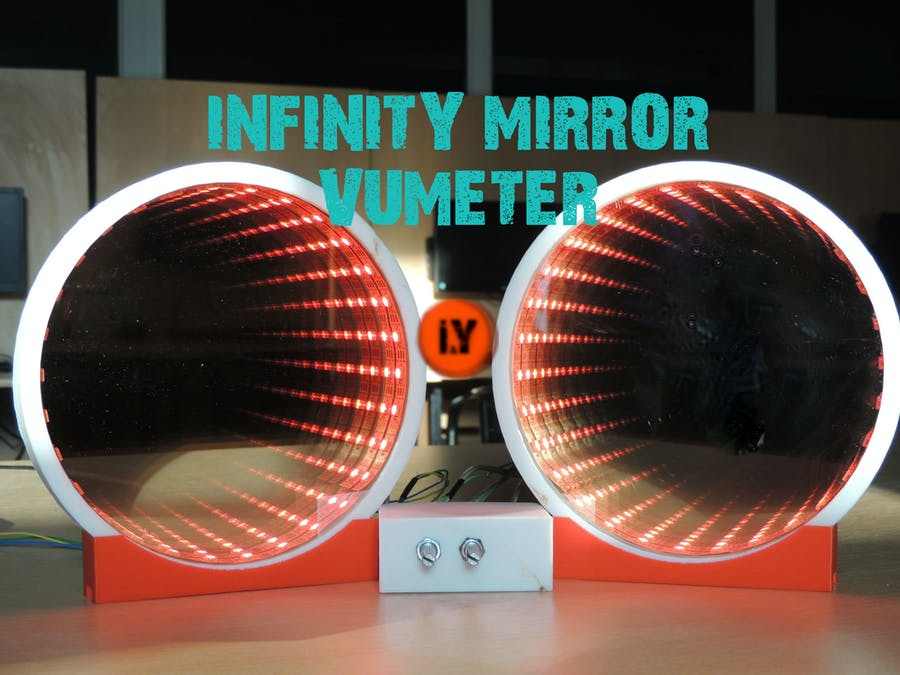 Infinity Mirror VU Meter Music Equalizer
