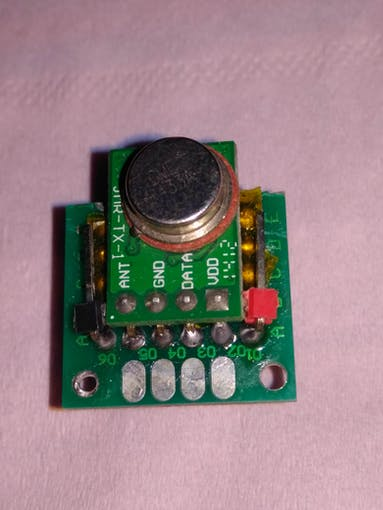 Receiver soldered on receiver base