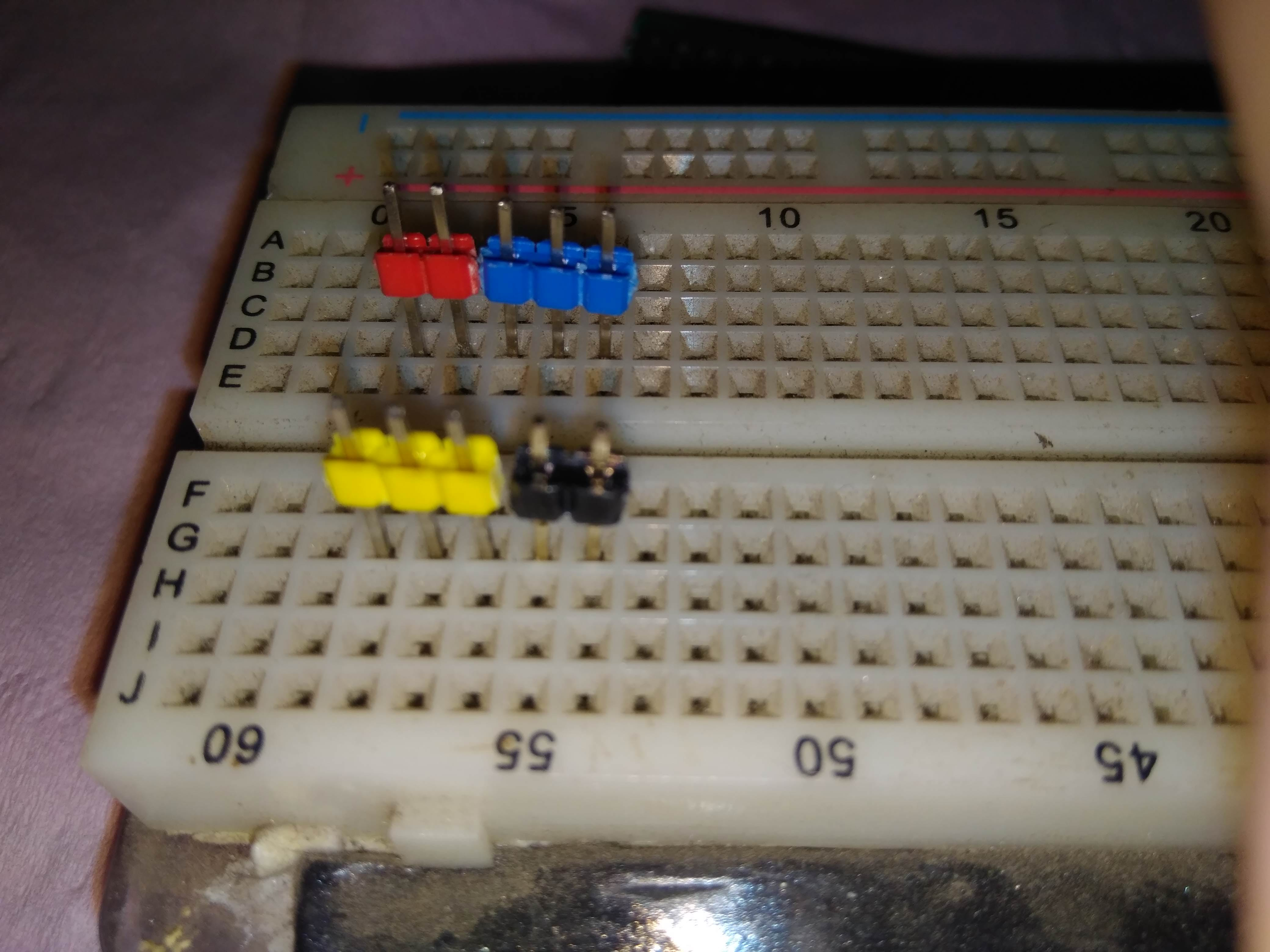 Using breadboard for alignment before soldering