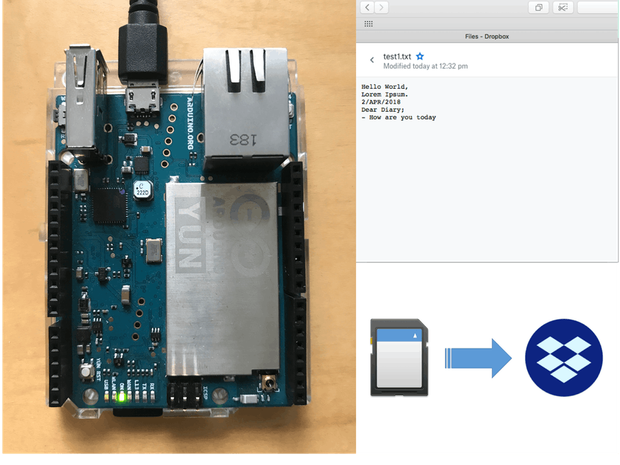 Back Up SD File to Dropbox - Arduino Project Hub