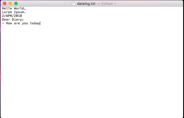 Create a plain/text file and write some stuff to it