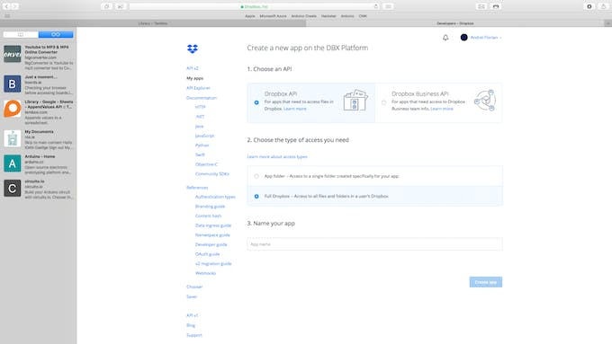 Select the Full Dropbox option from the fallowing dropdown menu