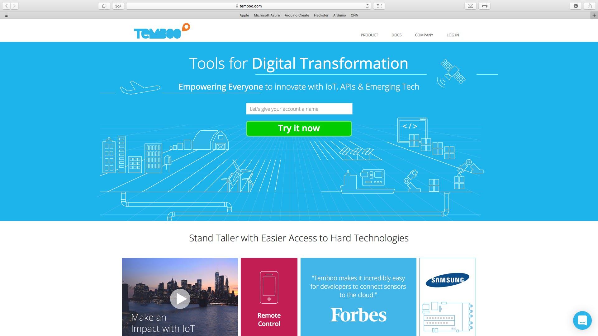 Open temboo.com