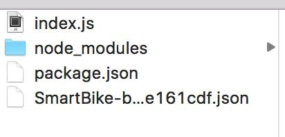 Firebase Functions directory with new service account json