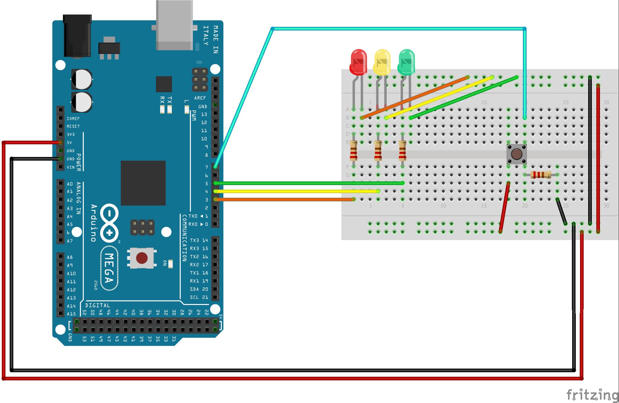 Stop Light Circuit Diagram Tinkercad - Wiring