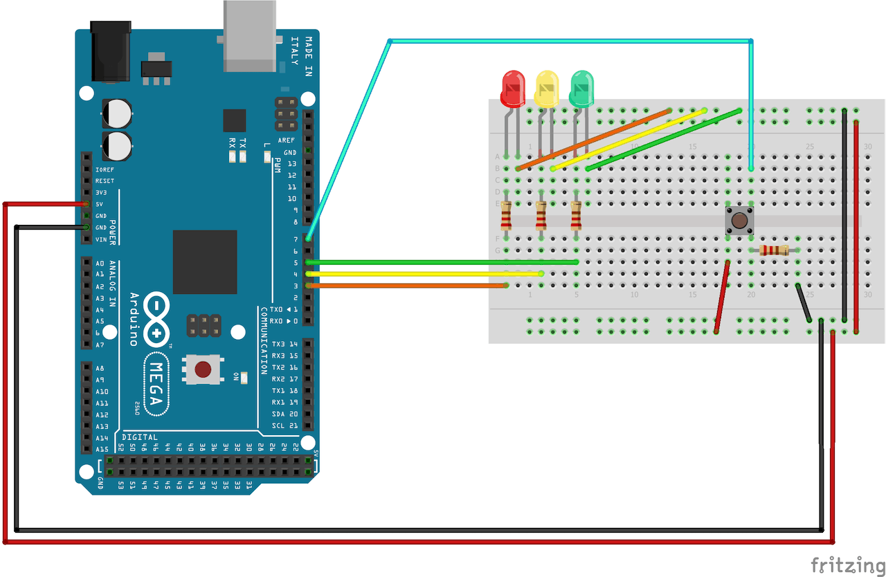 Traffic Lights and Push Button - Hackster io