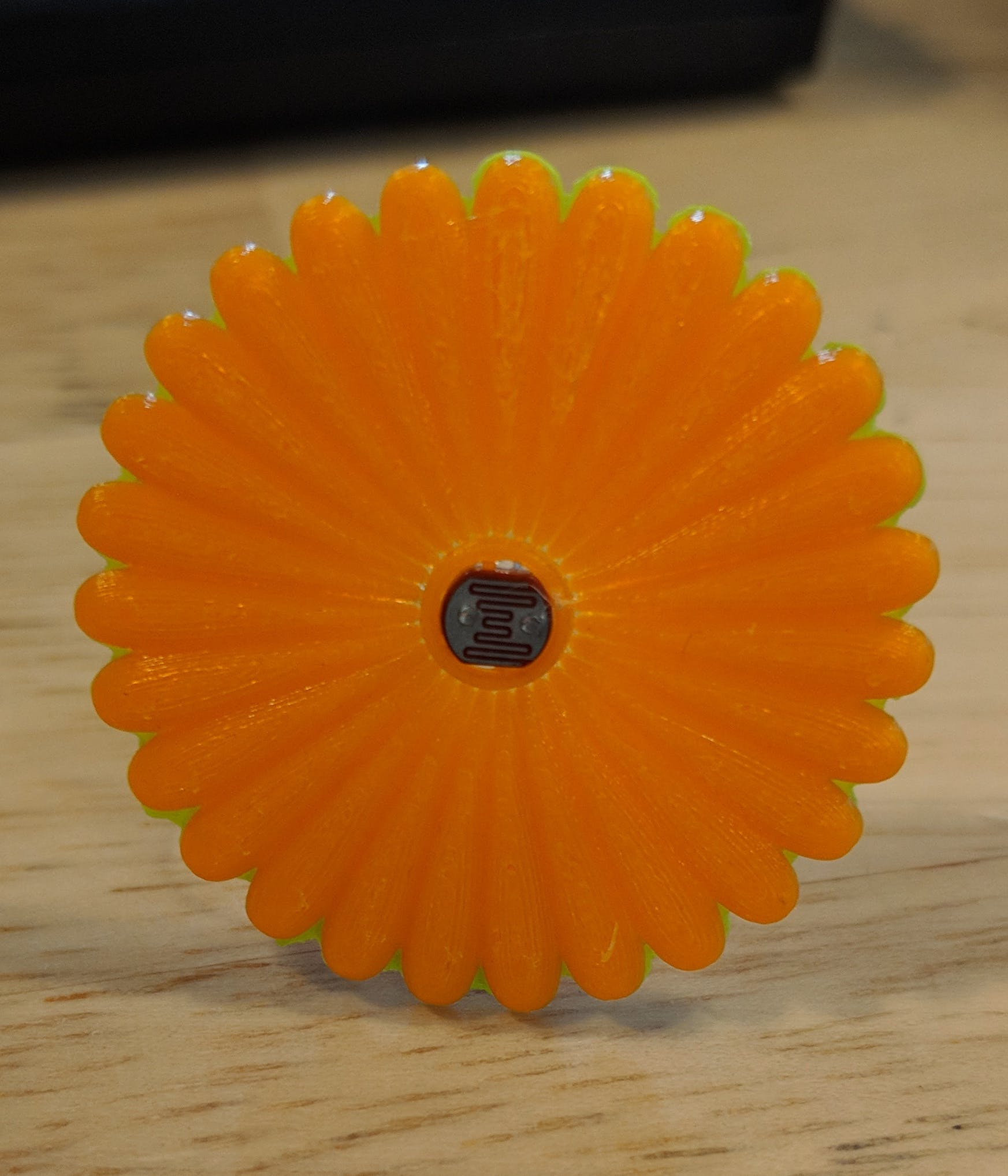 Photoresistor in its flower costume