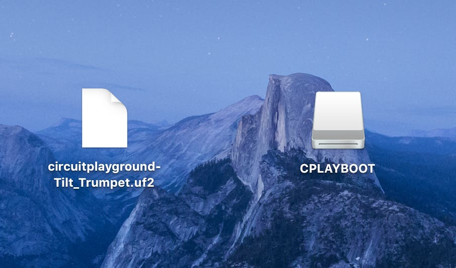 Drag the file onto the CPLAYBOOT