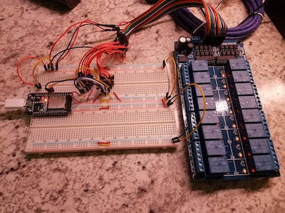 Using the ESP32S with 74595 Shift Registers