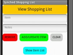 Synchronized Shopping List App - Hackster io