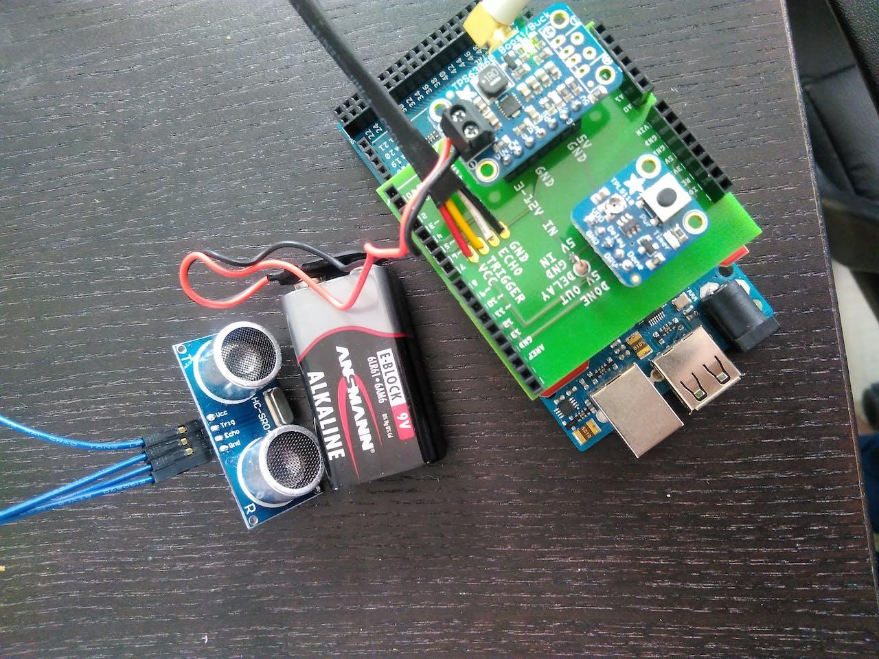 Water Level Ultrasonic Sensor With Lorawan Converter Circuit Board Pcb Buy