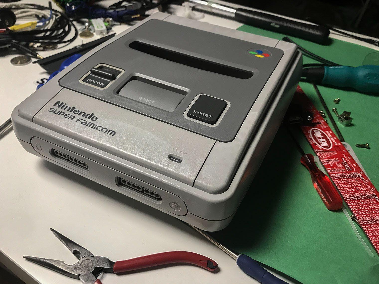 RetroPie in a Super Famicom