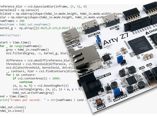 use python  zynq and opencv to implement computer vision