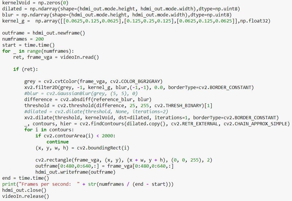 Modified Code through Web USB camera